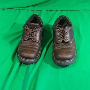 Doc martens sz 11 classic tie dark brown shoes